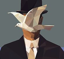 The Man In The Bowler Hat -Magritte- by Alice Protin