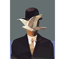 The Man In The Bowler Hat -Magritte- Photographic Print