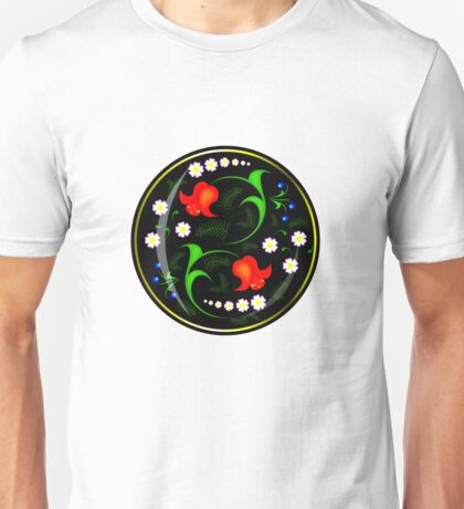 khokhloma in a new way, in russian art Unisex T-Shirt