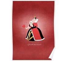 Alice in Wonderland inspired design (Queen of Hearts). Poster