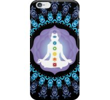 Young woman practicing meditation 10 iPhone Case/Skin