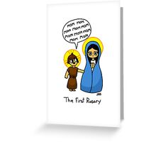 The First Rosary Greeting Card