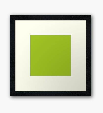 Lime Green - Trees Leaves Greens Outdoors Nature  Framed Print