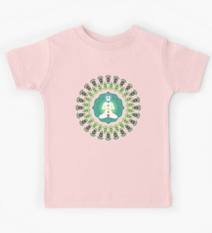 Young woman practicing meditation 11 Kids Tee