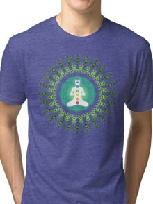 Young woman practicing meditation 11 Tri-blend T-Shirt