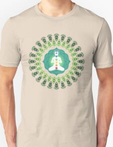 Young woman practicing meditation 11 Unisex T-Shirt