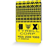 Blade Runner Tyrell Sebastian badge Greeting Card