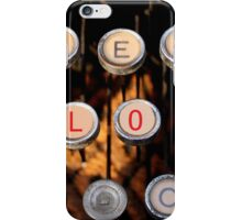 love on old typewriter iPhone Case/Skin