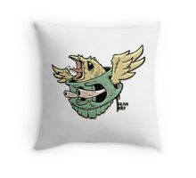Brain Bird Throw Pillow