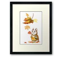 Autumn Hamster Framed Print