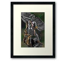 Ƹ̴Ӂ̴Ʒ Archangel Angel Michael (biblical) Ƹ̴Ӂ̴Ʒ Framed Print