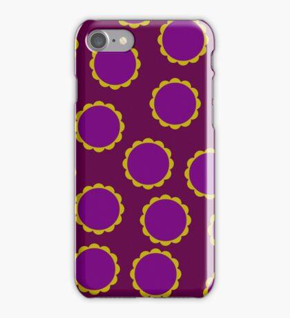 1970s Burgundy Flower Pattern iPhone Case/Skin