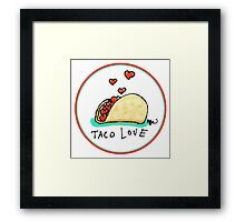 Taco Love Framed Print
