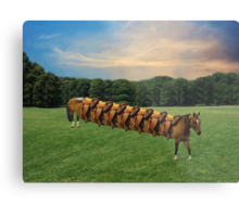 (✿◠‿◠)  HORSE LIMO RIDES SEVEN LETS RIDE LOL (✿◠‿◠) Metal Print