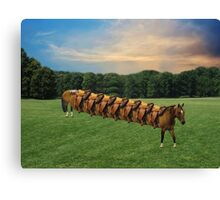(✿◠‿◠)  HORSE LIMO RIDES SEVEN LETS RIDE LOL (✿◠‿◠) Canvas Print