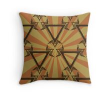 Triangle Sunburst Throw Pillow