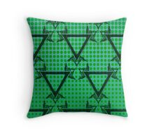 Triangle Halftone Green Throw Pillow