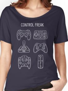 Control Freak Video Game Controller T Shirt Women's Relaxed Fit T-Shirt