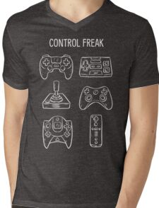 Control Freak Video Game Controller T Shirt Mens V-Neck T-Shirt
