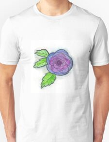 Watercolor Blue Rose T-Shirt