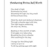 Awakening Divine Self Worth, sketch of Jesus Sticker