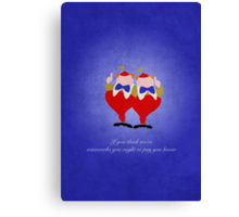 Alice in Wonderland inspired design (Tweedle Dum & Tweedle Dee). Canvas Print