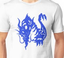 Blue Wise Dragon Art Unisex T-Shirt