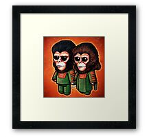"""The Science Apes"" POOTERBELLIES Framed Print"