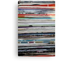 old vinyl records Canvas Print