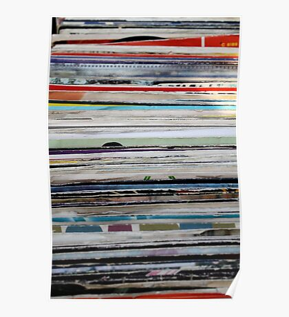 old vinyl records Poster