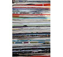 old vinyl records Photographic Print
