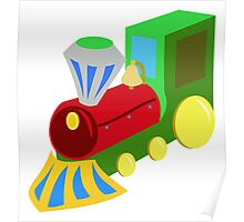 Cartoon Toy Steam Train Poster