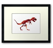 Ceratosaurus Dinosaur Trex Indominus Jurrasic Park Watercolor Painting Framed Print