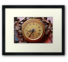 old clock of wall Framed Print