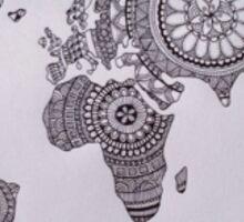 map world Sticker
