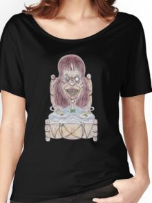 Horror Movie Possessed Caricature Women's Relaxed Fit T-Shirt
