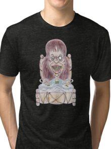 Horror Movie Possessed Caricature Tri-blend T-Shirt