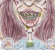 Horror Movie Possessed Caricature Sticker