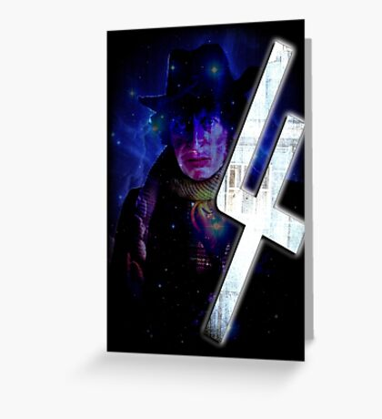 Dr Who The Fourth Doctor T-Shirt Tom Baker Greeting Card
