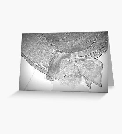 old woman's hat Greeting Card