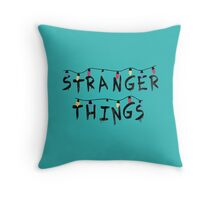 Stranger Things Fairy Lights Throw Pillow