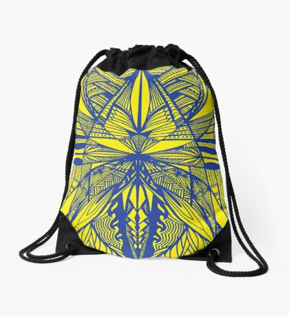 Siapo Blue and Gold Drawstring Bag
