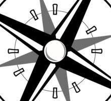 Vintage Compass Rose Explore Adventure Sticker