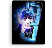 Dr Who The Third Doctor Jon Pertwee T-Shirt Canvas Print