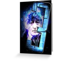 Dr Who The Third Doctor Jon Pertwee T-Shirt Greeting Card