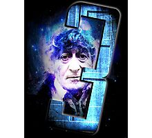 Dr Who The Third Doctor Jon Pertwee T-Shirt Photographic Print