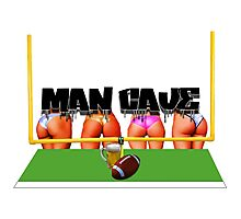 Man Cave Football Photographic Print