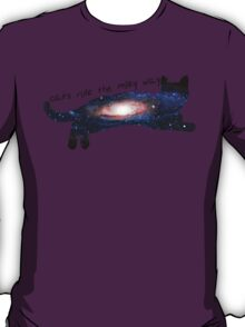 cats rule the milky way T-Shirt