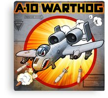 "WINGS Series ""A-10 WARTHOG"" Canvas Print"