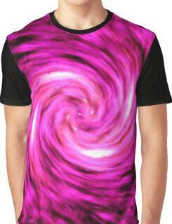 Pink Spiral Galaxy Graphic T-Shirt